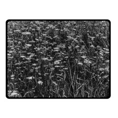 Black And White Queen Anne s Lace Hillside Fleece Blanket (small)