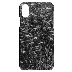 Black And White Queen Anne s Lace Hillside Apple Iphone X/xs Black Uv Print Case by okhismakingart