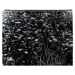 High Contrast Black And White Queen Anne s Lace Hillside Cosmetic Bag (xxxl)