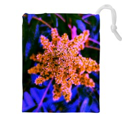 Yellow, Pink, And Blue Sumac Bloom Drawstring Pouch (xxl)