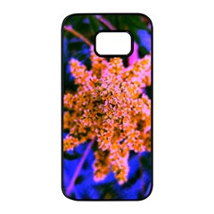 Yellow, Pink, And Blue Sumac Bloom Samsung Galaxy S7 Edge Black Seamless Case