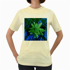 Lime Green Sumac Bloom Women s Yellow T Shirt