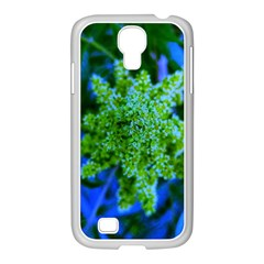 Lime Green Sumac Bloom Samsung Galaxy S4 I9500/ I9505 Case (white)