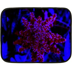 Maroon And Blue Sumac Bloom Double Sided Fleece Blanket (mini)