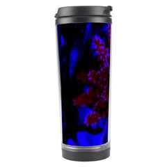 Maroon And Blue Sumac Bloom Travel Tumbler