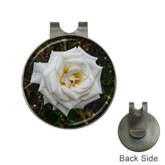 White Angular Rose Hat Clips With Golf Markers