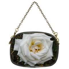 White Angular Rose Chain Purse (two Sides)