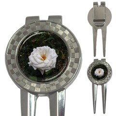 White Smooth Rose 3 In 1 Golf Divots