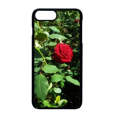 Deep Red Rose Iphone 8 Plus Seamless Case (black)
