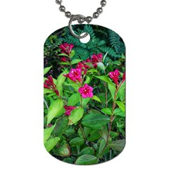 Purple Park Flowers Dog Tag (two Sides)
