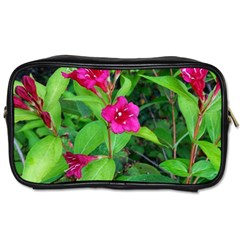 Purple Park Flowers Toiletries Bag (two Sides)