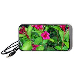 Purple Park Flowers Portable Speaker