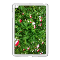 Red And White Park Flowers Apple Ipad Mini Case (white) by okhismakingart