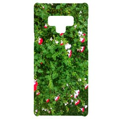 Red And White Park Flowers Samsung Note 9 Black Uv Print Case