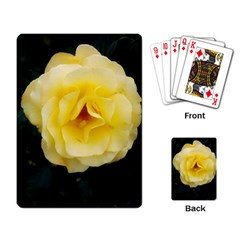Pale Yellow Rose Playing Cards Single Design