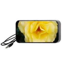 Pale Yellow Rose Portable Speaker