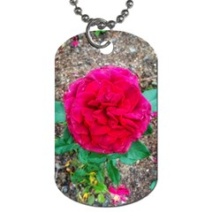 Folded Red Rose Dog Tag (one Side)
