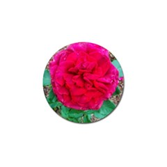 Folded Red Rose Golf Ball Marker
