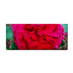 Folded Red Rose Hand Towel