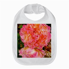 Folded Pink And Orange Rose Bib