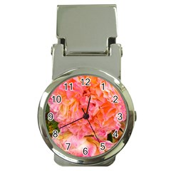 Folded Pink And Orange Rose Money Clip Watches