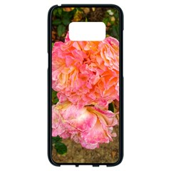 Folded Pink And Orange Rose Samsung Galaxy S8 Black Seamless Case