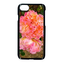 Folded Pink And Orange Rose Iphone 8 Seamless Case (black)
