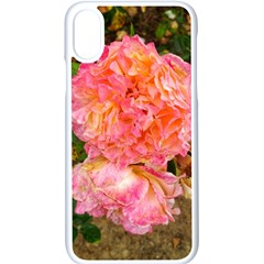 Folded Pink And Orange Rose Iphone Xs Seamless Case (white)