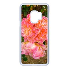 Folded Pink And Orange Rose Samsung Galaxy S9 Seamless Case(white)