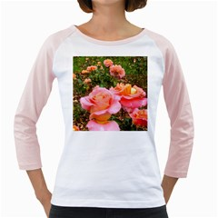 Pink Rose Field Girly Raglan