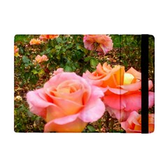 Pink Rose Field Apple Ipad Mini Flip Case
