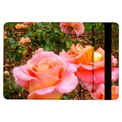 Pink Rose Field Ipad Air Flip