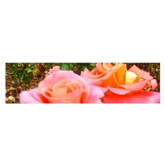 Pink Rose Field Satin Scarf (oblong)