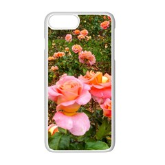 Pink Rose Field Iphone 7 Plus Seamless Case (white)