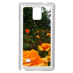 Orange Rose Field Samsung Galaxy Note 4 Case (white)