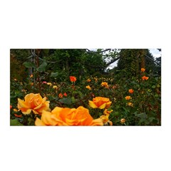 Orange Rose Field Satin Wrap