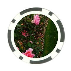 Pink Rose Field (sideways) Poker Chip Card Guard