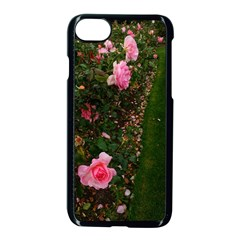 Pink Rose Field (sideways) Iphone 7 Seamless Case (black)