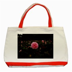Pink Rose Field Ii Classic Tote Bag (red)