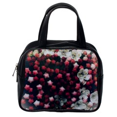 Floral Stars  Dark Red Classic Handbag (one Side)