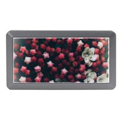 Floral Stars  Dark Red Memory Card Reader (mini) by okhismakingart