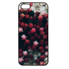 Floral Stars  Dark Red Iphone 5 Seamless Case (black)