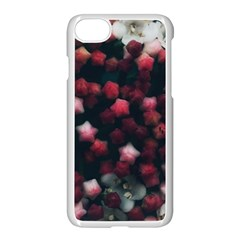 Floral Stars  Dark Red Iphone 8 Seamless Case (white)
