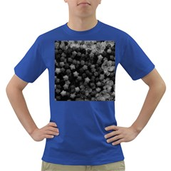 Floral Stars  Black And White Dark T Shirt