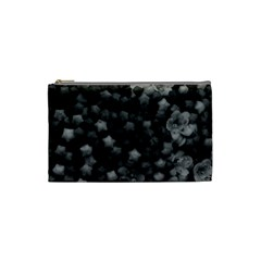 Floral Stars  Black And White Cosmetic Bag (small)