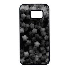 Floral Stars  Black And White Samsung Galaxy S7 Black Seamless Case