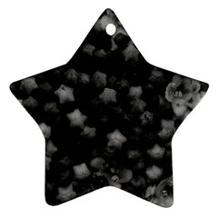Floral Stars -black And White, High Contrast Ornament (star) by okhismakingart