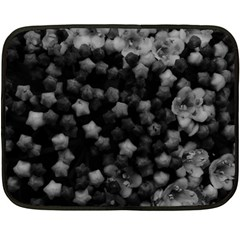 Floral Stars  Black And White, High Contrast Fleece Blanket (mini)
