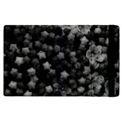 Floral Stars  Black And White, High Contrast Apple Ipad Mini 4 Flip Case