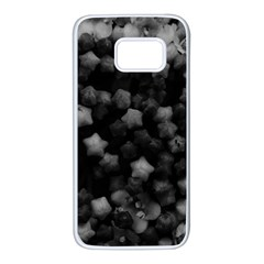 Floral Stars  Black And White, High Contrast Samsung Galaxy S7 White Seamless Case